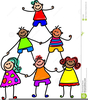 Kids Working Together Clipart Image