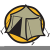 Tent Campfire Clipart Image