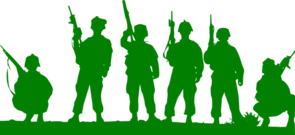 Green Toy Soldiers Clip Art