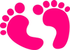 Baby Boy Footprint Clipart Image