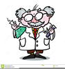 Animated Mad Scientist Clipart Image