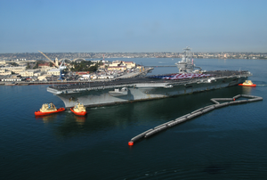 Uss Nimitz (cvn 68) Arrives In Her Homeport At Naval Air Station North Island, Coronado, Calif Image