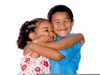 Little Kids Hugging Image