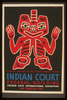 Indian Court, Federal Building, Golden Gate International Exposition, San Francisco, 1939 Blanket Design Of The Haida Indians, Alaska / Siegriest. Image