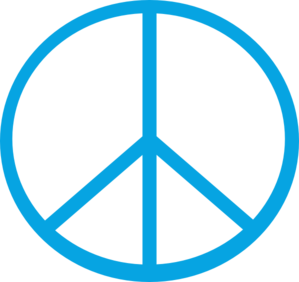 Peace, Blue, Sign Clip Art