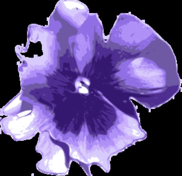 Цветочный клипарт  Фиолетовый свежие цветы граница