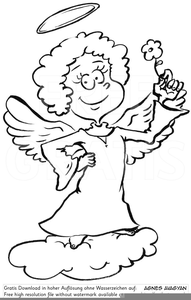 Clipart Engel Auf Wolke Free Images At Clker Com Vector Clip Art