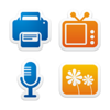 Colorful Stickers Part Icons Set X Preview Image