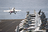 An F/a-18c Hornet Launches From One Of Four Steam-powered Catapults On The Flight Deck Aboard Uss Abraham Lincoln (cvn 72). Image