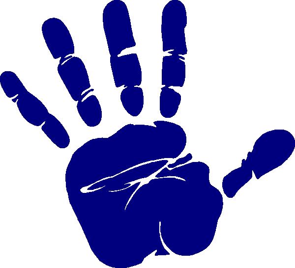 blue hand print clip art at clker com vector clip art online rh clker com