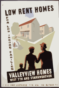 Low Rent Homes For Low Income Families Valleyview Homes, West 7th And Starkweather. Clip Art