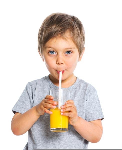 Kid Drinking Orange Juice