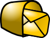 Gold Theme Mailbox Mail Clip Art