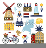 Netherlands Windmill Clipart Image