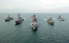 Aerial Photo Of Security Council Coalition Ships Image