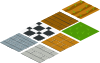 Isometric Floor Tile Clip Art