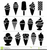 Ice Cream Cone Clipart Black And White Image