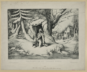 Washington At Valley Forge  / Lith Of F. Heppenheimer, 22 N. William St., Ny. Image