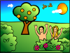 Adam Eve Happy Clip Art