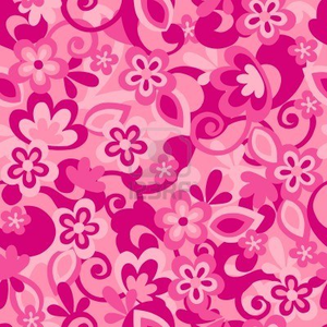Floral Camo Seamless Repeat Pattern Vector Illustration Image