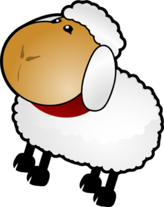 Sheep, Rotate 4 Clip Art