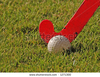 Stock Photo Hockey Stick About To Hit A Hockey Ball With Grass Background Image
