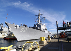 The Guided Missile Destroyer Uss Lassen Ddg 82 Gets Underway Image