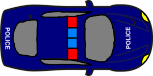 P Car - Top View Clip Art