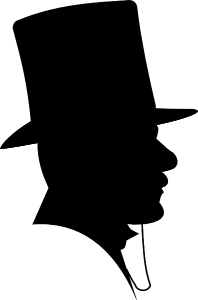 man wearing a top hat clip art at clkercom vector clip