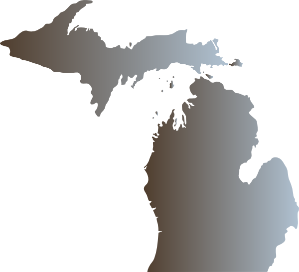Michigan Outline With Great Lakes Clip Art At Clker Vector: Pictures Of The State Of Michigan At Slyspyder.com
