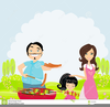 Family Meal Clipart Image