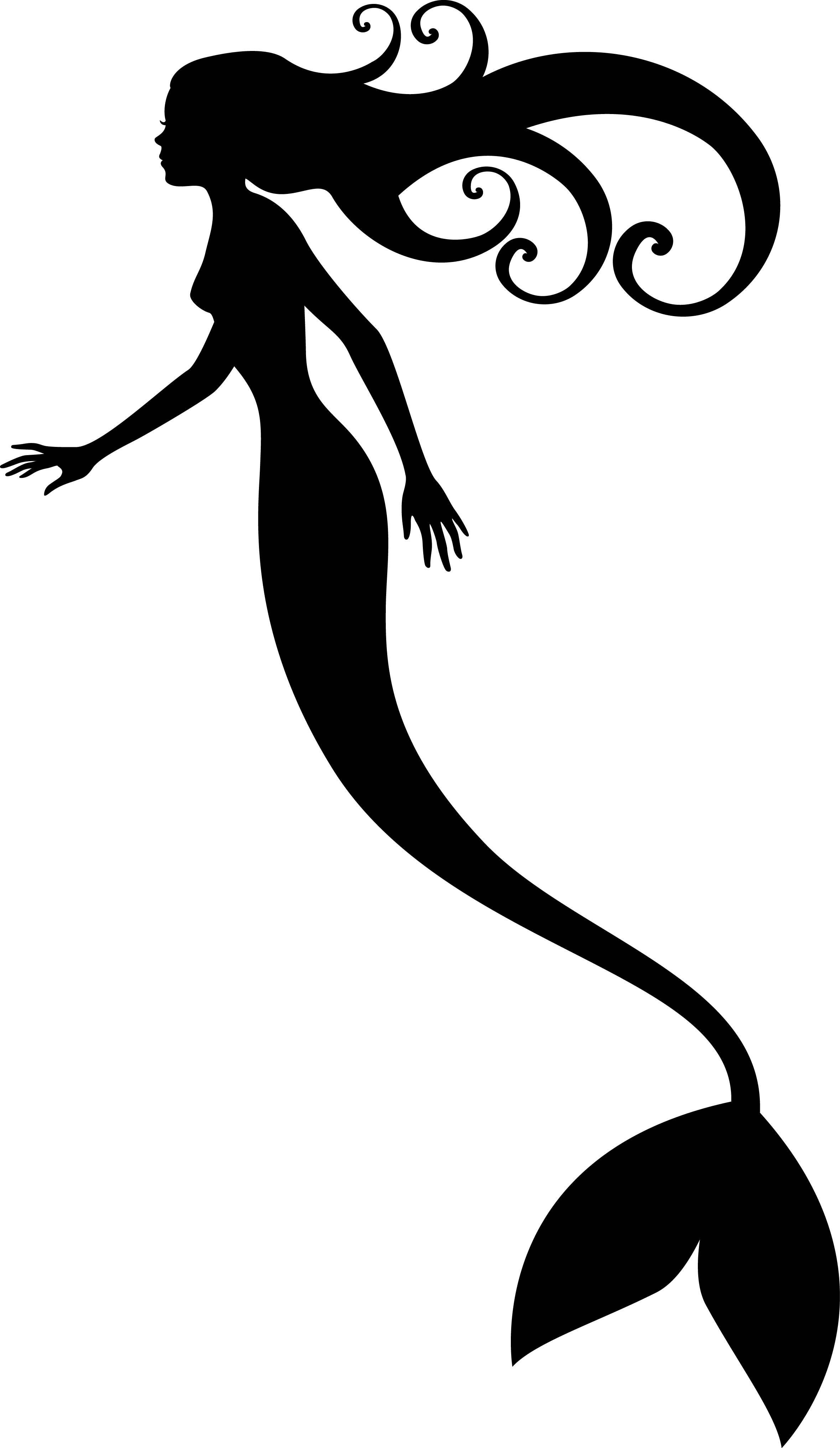mermaid tail silhouette mermaidhires image