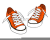 Sneakers Hanging Clipart Image