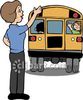 Teacher Waving Goodbye Clipart Image