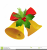 Free Clipart Christmas Bells Holly Image