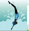 Girl On Diving Board Clipart Image