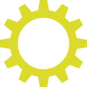 Yellow Cog Wheel Clip Art