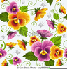 Free Clipart Of Pansies Image