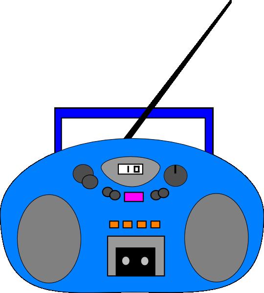Blue Radio Clip Art at Clker.com - 39.4KB