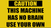 Blank Caution Signs Image