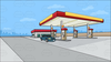 Petrol Station Clipart Image