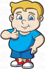 Clipart Fat Person Cartoon Image