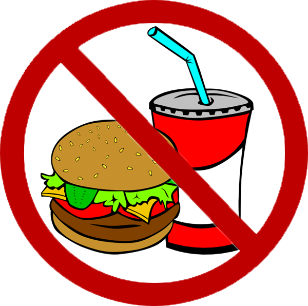 food clipart clip junk drink fast drinking vector water avoid beverage stealing sign cliparts clker domain royalty say shared them