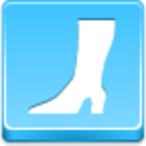 Free Blue Button Icons High Boot Image