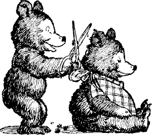 Bear Gets Haircut Clip Art
