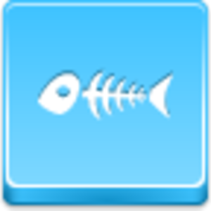 Free Blue Button Icons Fish Skeleton Image