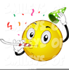 Smiley Face With Party Hat Clipart Image