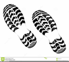 Running Shoe Print Clipart Image