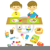 Eating Snacks Clipart Image