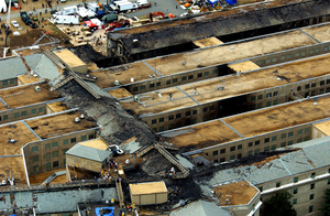 Aerial View Of Pentagon Destruction Image